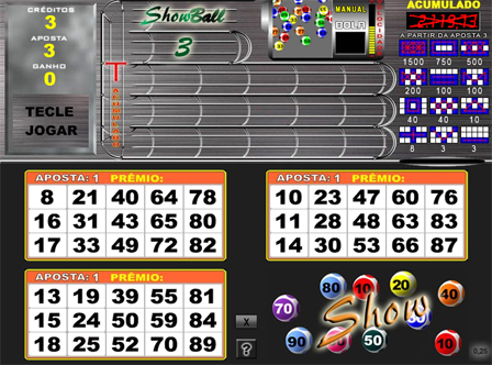 Show Ball 3 Bingo Online Playbonds